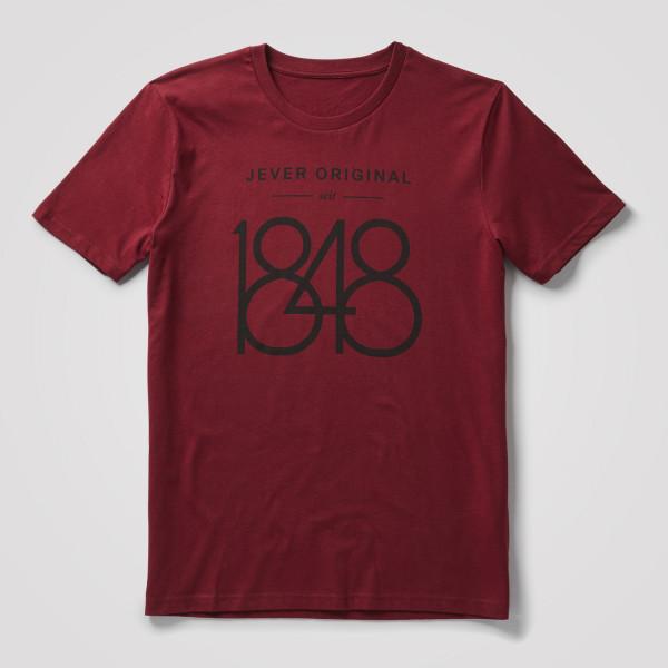 "Herren Shirt ""1848"", dunkelrot"