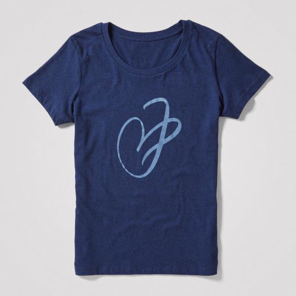 Damen Shirt J-Herz, blau