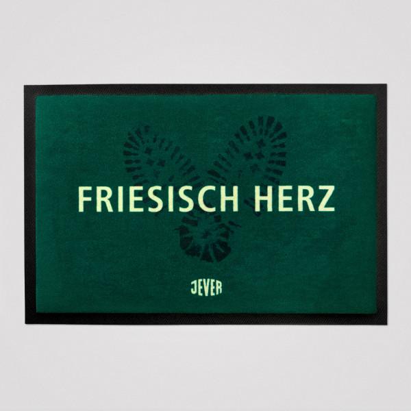 Fußmatte Friesisch-Herz