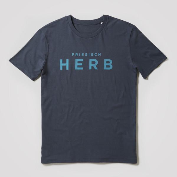 Herren Shirt Friesisch Herb, grau/blau
