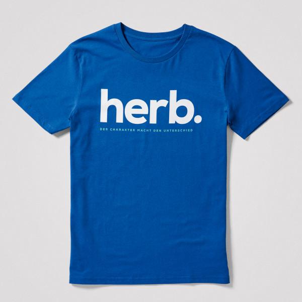 "Herren Shirt ""herb."", blau"