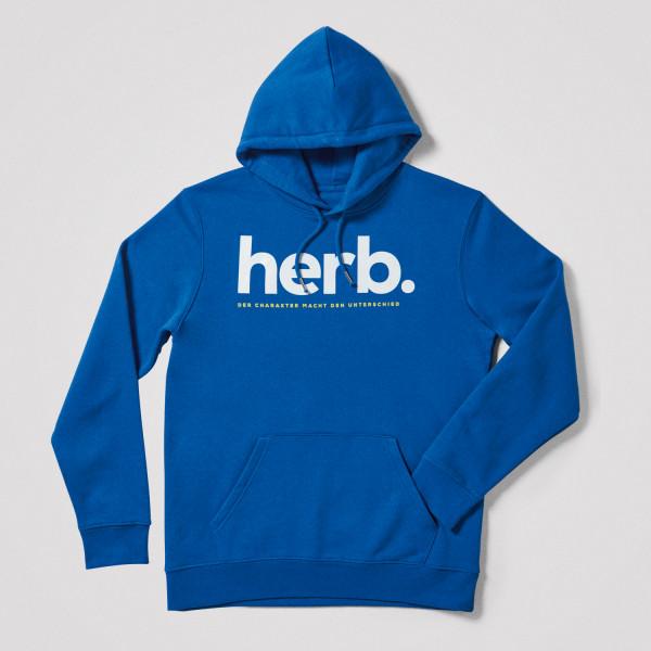 """Herren Hoodie """"herb."""", blau"""