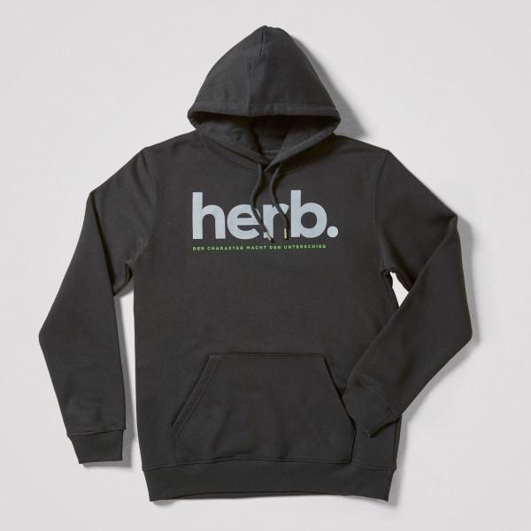 """Herren Hoodie """"herb."""", schwarz"""
