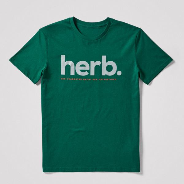 "Herren Shirt ""herb."", grün"