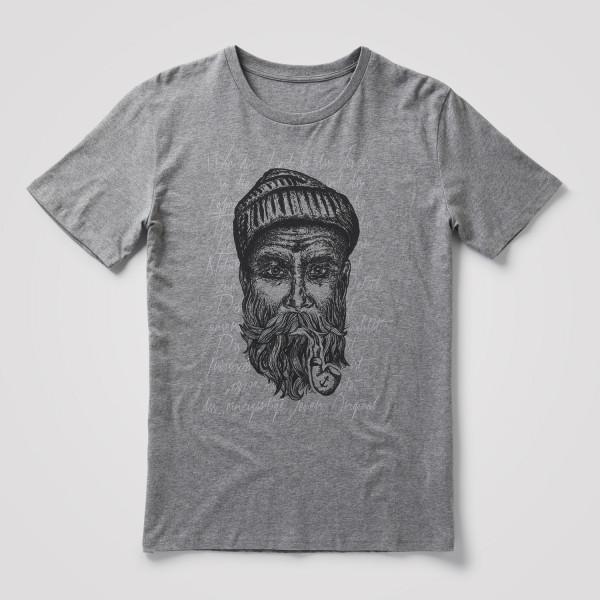 "Herren Shirt ""Seemann"" grau/schwarz"