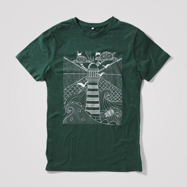 Herren Shirt Leuchtturm