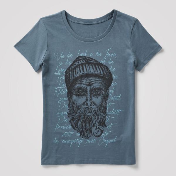 "Damen Shirt ""Seemann"", blau/türkis"