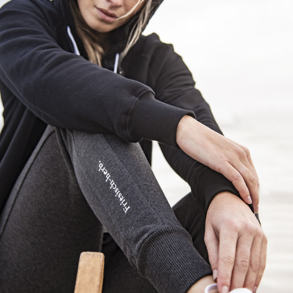Damen Jogginghose, hellgrauer Stick
