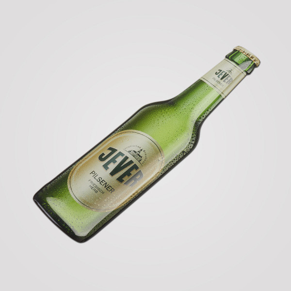 Jever-Aufkleber Flasche