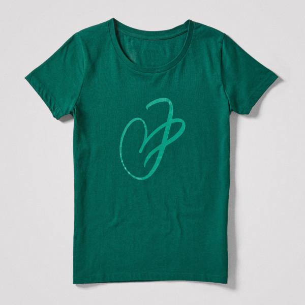 Damen Shirt J-Herz, grün